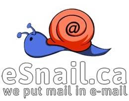 esnail.ca canadian virtual mail service logo