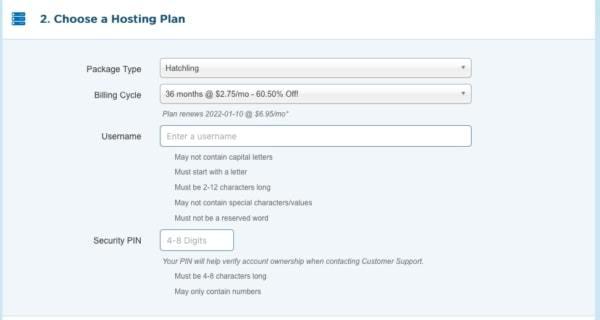 starting a travel blog with HostGator - confirm hosting plan